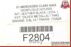 00-06 Mercedes W215 CL600 S430 Central Door Lock Locking Vacuum Pump OEM