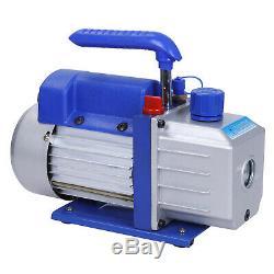 1/3HP Air Vacuum Pump HVAC Combo 4 CFM + R134A Kit AC A/C Manifold Gauge Set