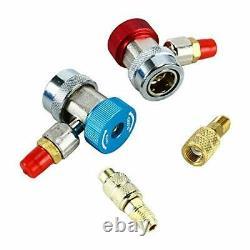 1/3hp 4CFM Rotary Vane Air Vacuum Pump HVAC A/C Refrigeration Kit Manifold Gauge