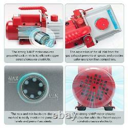 1 Gallon Vacuum Chamber Degassing Silicone 3CFM Single Stage Pump Air AC Kit