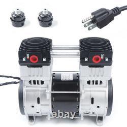 1100W Oil Free Oilless Piston High Flow Vacuum Air Pump -90.6kpa 200L/min 7CFM