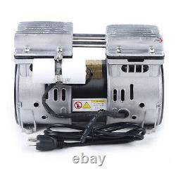 110V 550W Oilfree Micro Air Diaphragm Pump Electric Motor Vacuum Pump Quiet