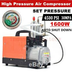 110V High Pressure Air Compressor Pump 30Mpa 4500psi Pressure Preset Autostop
