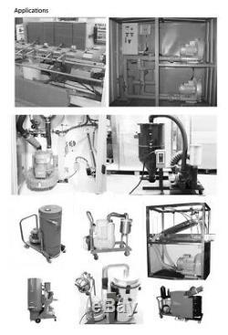 120W 220V 1PH High Pressure Vortex Fan Vacuum Pump Industrial Dry Air Blower Fan