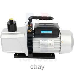 12CFM 1HP Vacuum Pump Dual Stage Rotary Vane Deep HVAC Refrigeration Air Tool
