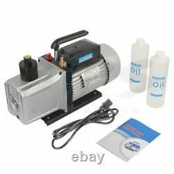 12CFM Dual Stage Vacuum Pump 1HP Rotary Vane Deep HVAC Refrigeration Air Tool