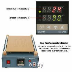14inch Dual Vacuum Air Pump LCD Screen Separator Phone Tablet Screen Repair 220V