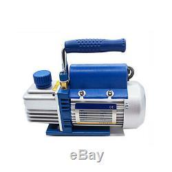 150W 2PA R134a Rotary Vane Deep Vacuum Pump 2.12CFM HVAC AC220V Air Conditioning