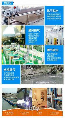 180W High Pressure Fan Vortex Air Vacuum Pump Industrial Vacuum Cleaner 1PH 220V