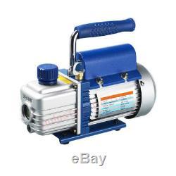 2.12CFM Mini Rotary Vane Deep Vacuum Pump 220V 1/5HP Single Stage HVAC Air Tool