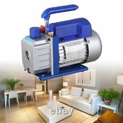 2.5CFM 1/4HP HVAC AC Rotary Vane Deep Vacuum Pump Single Stage Air Refrigerant