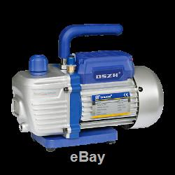 2.5CFM 2 Stages Refrigerant Vacuum Pump Refrigeration Gauges Tools Air Condition