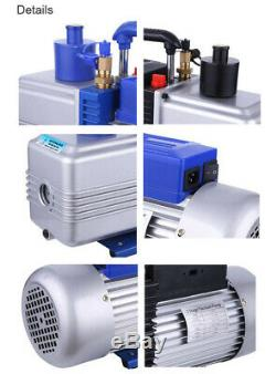 2-Stage 12CFM Rotary Vane Vacuum Pump 1HP 110V for Refrigerator Air Condition