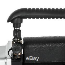 2 Stage 5CFM Rotary Vane Vacuum Pump 1/2HP HVAC AC Refrigerant Air Conditioning