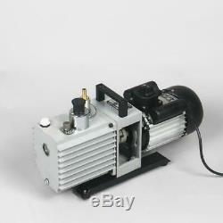 2-stage Rotary vane Air Vacuum Pump, 5 CFM (2.4L/s), 1/2HP 110V/220V