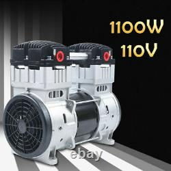 200L/min Electric Air Oilless Silent Diaphragm Vacuum Pump+Silencer+Floor mat US