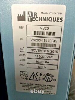 2016 Air Techniques VacStar 20 VS20 Dental 1HP Wet-Ring Suction Vacuum Pump Vac