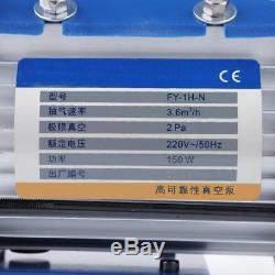 220V 150W Vacuum Pump Air Conditioning Refrigerator Gauge Single-Stage Rotary