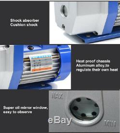 220V 1L 150W 5Pa Rotary Mini Vane Vacuum Pump For HVAC AC Air Conditioning NEW