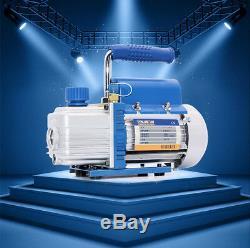 220V 3.15 CFM 90L/MIN Rotary Vane Vacuum Pump 180W HVAC AC Refrigerant Air