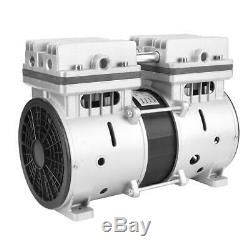 220V Oilless Piston Vacuum Pump -98.6kpa Oil Free Air Compressor 80L/min 370W