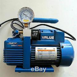 220V, Single-Stage Vacuum Air Pump for vacuum suction filtration, Withpressure Gauge