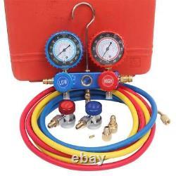 3.5 CFM 1/4HP Air Vacuum Pump HVAC Refrigeration AC Manifold Gauge R134 with Bag