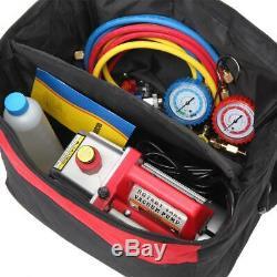 3.5 CFM 1/4HP Air Vacuum Pump HVAC Refrigeration AC Manifold R134 R12 R22 R502