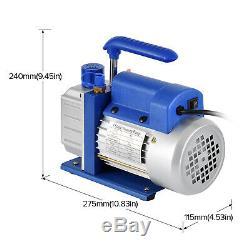 3.5CFM 1/4HP Air Vacuum Pump HVAC A/C Refrigeration Kit AC Manifold Gauge Set with