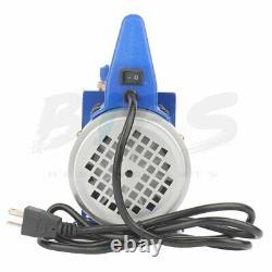 3.5CFM 1 Stage Vacuum Pump 1/4HP Rotary HVAC Refrigeration Air Conditioning AC
