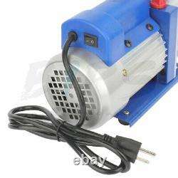 3.5CFM Single Stage Vacuum Pump 1/4HP Rotary HVAC Refrigeration Air Conditioning