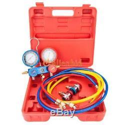 3 CFM 1/4HP Air Vacuum Pump HVAC Refrigeration AC Manifold Gauge R22 R134a Kit