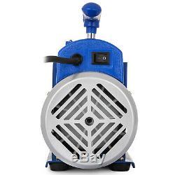 3 Gallon Vacuum Chamber Kit + 3 CFM 1 Stage Vacuum Pump Air Conditioning US Plug
