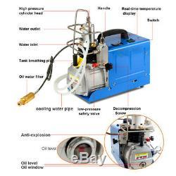 30MPA 4500PSI High Pressure Air Compressor PCP Airgun Scuba Air Pump USA