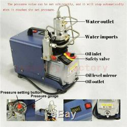 30MPa 220V Electric Air Pump High Pressure PCP Compressor 4500PSI 300BAR Diving