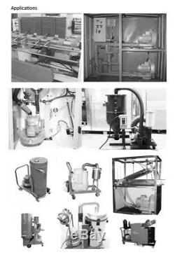 370W Industrial High Pressure Vortex Vacuum Pump 380V Dry Air Blower for Machine