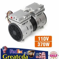370W Oil Free Oilless Piston High Flow Vacuum Air Pump 110V-90.6kpa 100L/min