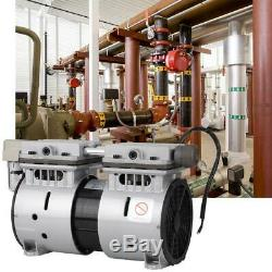 370W Oilless Piston Vacuum Pump -90.6kpa 100L/min High Flow Air Pump Durable