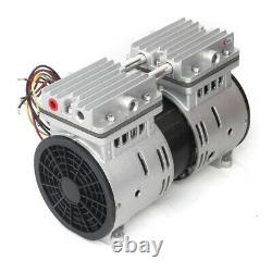 370W Oilless Vacuum Pump Piston Oil Free Air Pump Double Cylinder With Silencer