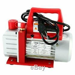 3CFM 1/4HP Air Vacuum Pump HVAC A/C Refrigeration Kit AC Manifold Gauge Set New