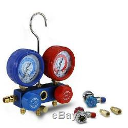 3CFM 1/4HP Air Vacuum Pump HVAC AC Refrigeration Manifold Gauge R134 Set SALE