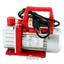 3CFM 1/4HP Rotary Vance Air Vacuum Pump HVAC A/C Refrigeration Kit R134A R12 R22