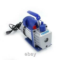 3CFM 1/4HP Rotary Vane Vacuum Pump Deep HVAC R134a Air Refrigerant Conditioning