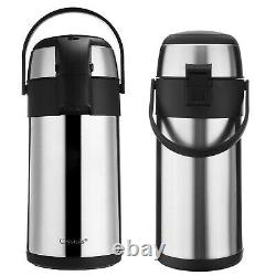 3L / 5L Air Pot Tea Flask Pump Action Vacuum Insulated Safety Lock Carry Handle