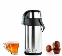 3Litre Vacuum Flask Air pot Pump Action Stainless Steel Hot Drinks Tea Coffee 3L