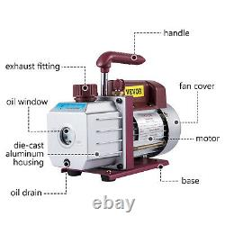 4.5 CFM Single-Stage Rotary Vacuum Pump 1/3HP HVAC/AC Auto Air Conditioner Tool