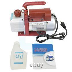 4.5 CFM Vacuum Pump Rotary Vane Deep HVAC AC Air Conditioner Tool 1/3HP 320ML