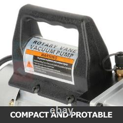 4 CFM Rotary Vane Deep Vacuum Pump 1/3HP Refrigerant 5 PA AC Air Tool 110V 60Hz