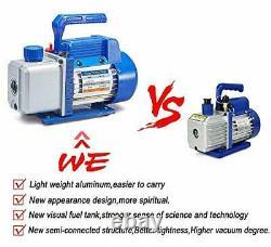 4CFM 1/3HP Air Vacuum Pump HVAC A/C Refrigeration Tool Kit AC with Leak