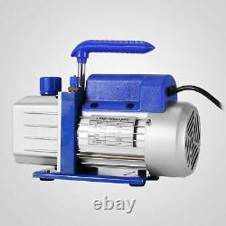 4CFM 1/3HP Air Vacuum Pump, HVAC R134a R12 R22 R502 A/C Refrigeration Kit